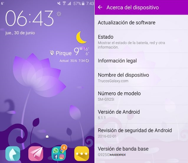 android de galaxy s6 chino