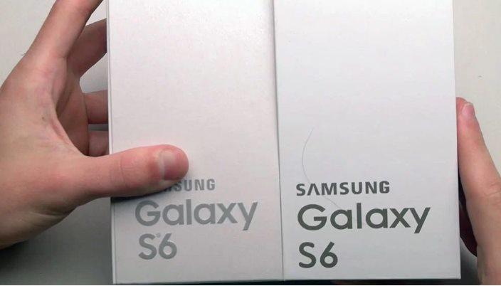 caja del galaxy s6 clon