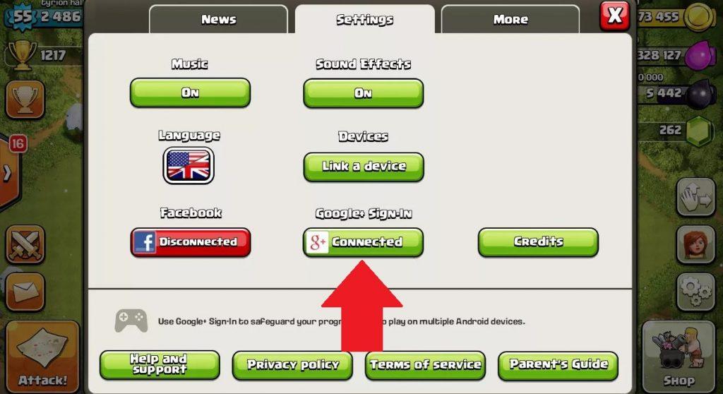 dos cuentas clash of clans android