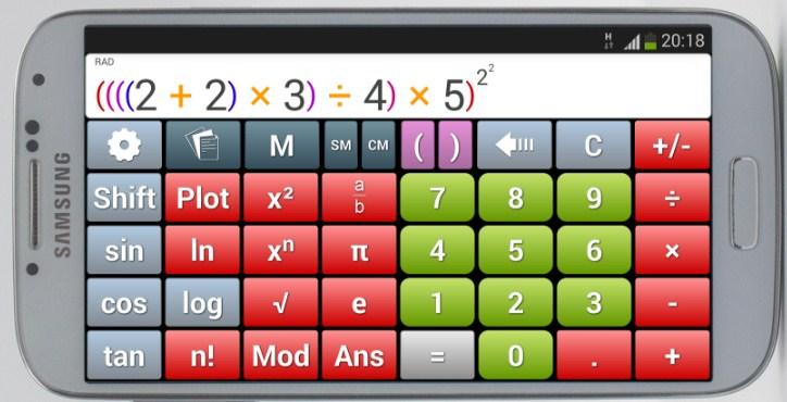 apk de calculadora cientifica samsung