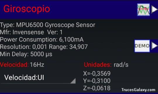 aplicacion de giroscopio