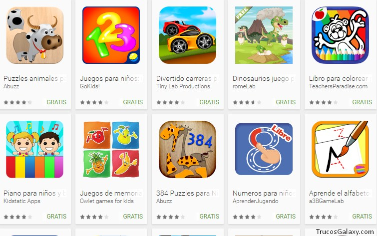 Juegos Para Ninos Celular Samsung Trucos Galaxy