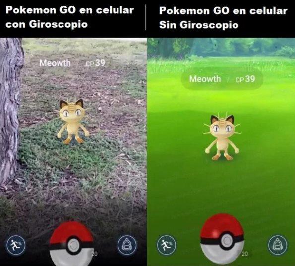 jugar pokemon go sin giroscopio
