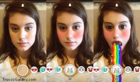 como se usan los lentes en snapchat