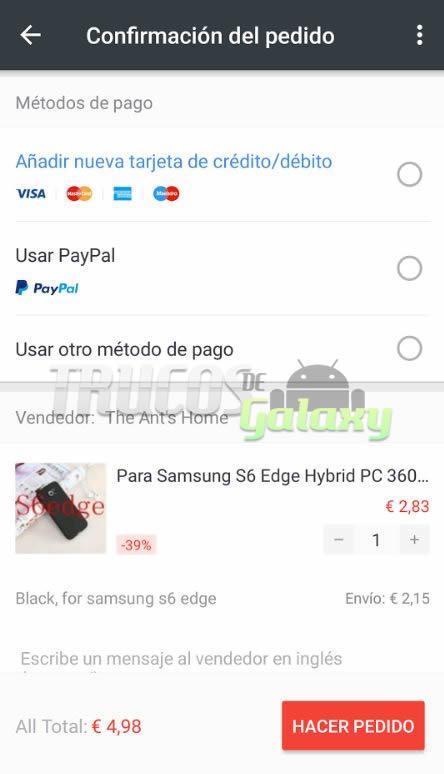 Ahora Aliexpress permite pagos con Paypal - Trucos Galaxy