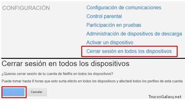 Cómo cerrar las sesiones activas de Netflix - Trucos Galaxy